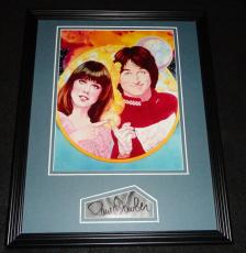 Pam Dawber Signed Framed 11x14 Photo Display Mork & Mindy w/ Robin Williams B