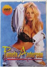 Pamela Anderson Authentic Signed Sexy Full Size 1997 Calendar PSA/DNA #AC18255