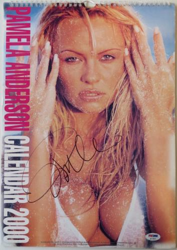 Pamela Anderson Authentic Signed Sexy Full Size 2000 Calendar PSA/DNA #AC18257