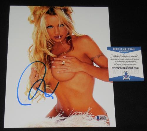 Pamela Anderson Autographed 8x10 Color Photo (baywatch) - Beckett Coa!