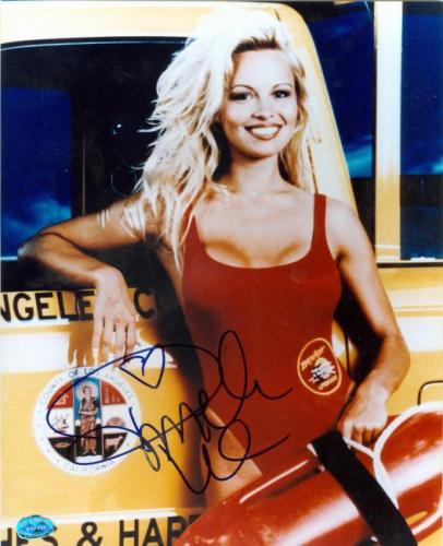 Pamela Anderson autographed 8x10 photo (Baywatch) Image #1