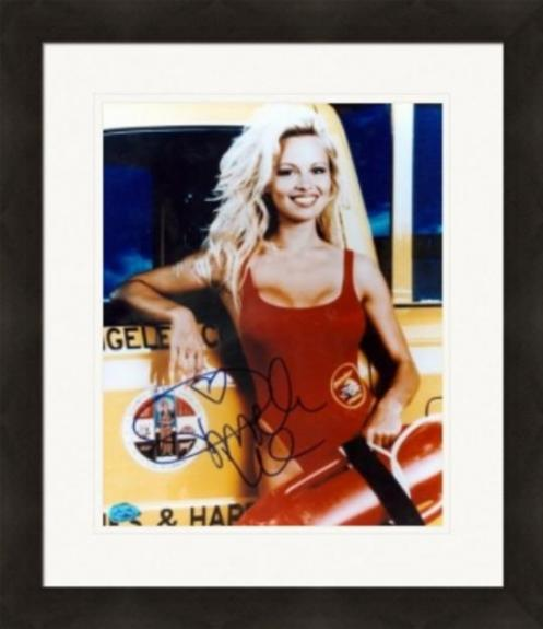 Pamela Anderson autographed 8x10 photo (Baywatch) Image #1 Matted & Framed