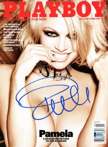 Pamela Anderson Autographed January/Febuary 2016 Playboy Magazine - BAS COA