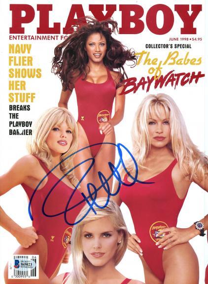 Pamela Anderson Autographed June 1998 Playboy Magazine - BAS COA