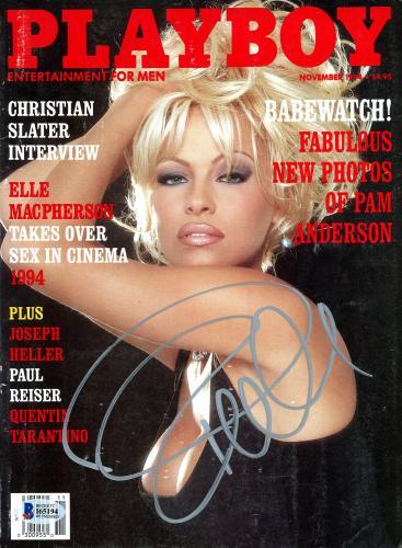 Pamela Anderson Autographed November 1994 Playboy Magazine - BAS COA