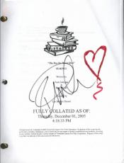 "Pamela Anderson Autographed ""stacked"" Script Signed With Coa"