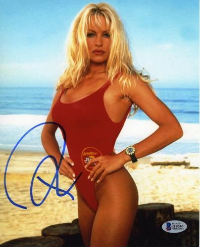 Pamela Anderson Baywatch Autographed Signed 8x10 Photo Authentic BAS COA