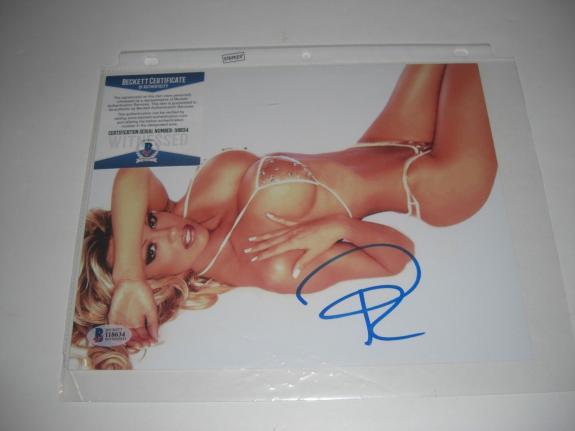 Pamela Anderson Baywatch Sexy Actress Beckett/coa Signed 8x10 Photo