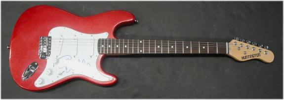 Pamela Anderson Hand Signed Autographed Electric Guitar Sexy Pam JSA S40596