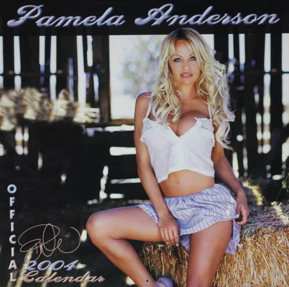 Pamela Anderson Sexy Signed 2004 Calendar Sexy Psa/dna W79952