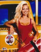 Pamela Anderson Signed 8x10 Photo - Pam Baywatch Swimsuit Truck Beckett BAS