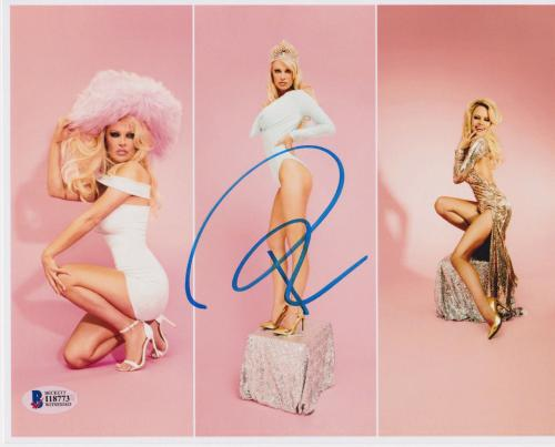Pamela Anderson Signed 8x10 Photo - Pam Sexy 3 Poses Beckett BAS
