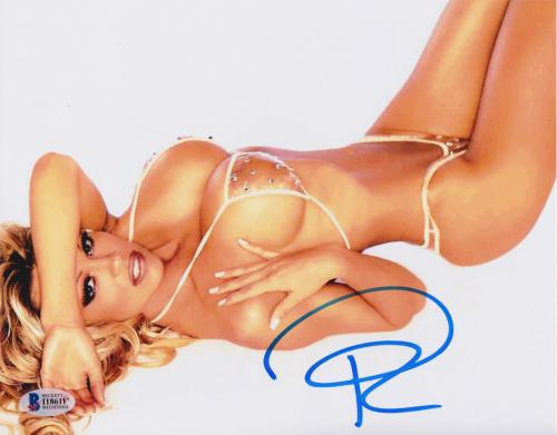 Pamela Anderson Signed 8x10 Photo - Pam Sexy Bikini Beckett BAS