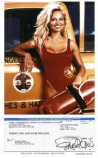 Pamela Anderson Signed Authentic Autographed Check PSA/DNA #B50289