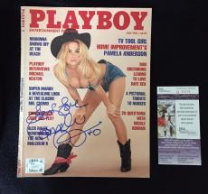 Pamela Anderson Signed Playboy Magazine Full Every Letter JSA Authenticated Pam
