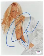 Pamela Anderson Signed Sexy Authentic Autographed 8x10 Photo PSA/DNA #I72367