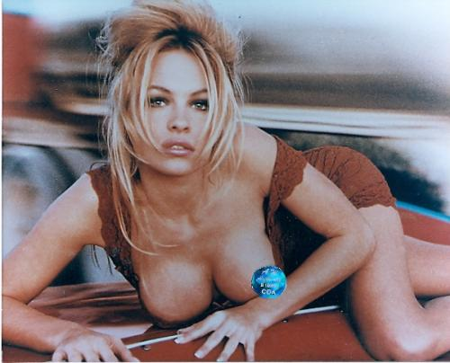 Pamela Anderson unsigned 8x10 photo  Borats Girl  Breast exsposed