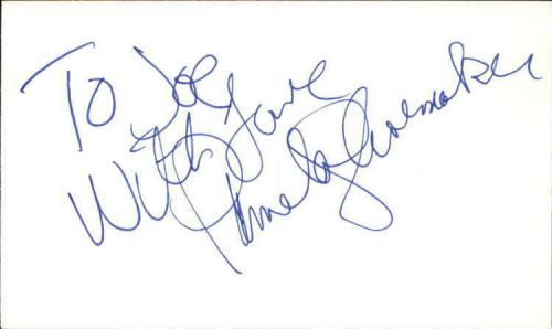 """PAMELA SHOEMAKER THE EDGE OF NIGHT Signed 3""""x5"""" Index Card"""