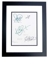 PANIC ROOM Autographed Script by Jodie Foster, Kristen Stewart, Forest Whitaker, and Jared Leto BLACK CUSTOM FRAME