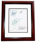 PANIC ROOM Signed - Autographed Script - Guaranteed to pass PSA or JSA by Jodie Foster, Kristen Stewart, Forest Whitaker, and Jared Leto MAHOGANY CUSTOM FRAME - Guaranteed to pass PSA or JSA