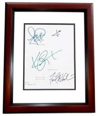PANIC ROOM Autographed Script by Jodie Foster, Kristen Stewart, Forest Whitaker, and Jared Leto MAHOGANY CUSTOM FRAME
