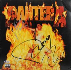 Pantera (4) Signed Reinventing the Steel Album Cover W/ Vinyl BAS #A80436