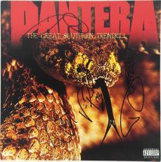 Pantera Group Signed Great Southern Trendkill Album Dimebag Psa/dna Ab04576