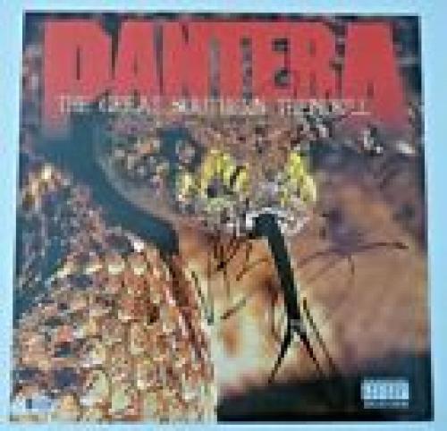 "Pantera Rex Phil Vinnie Signed Autographed Beckett Certified 12"" LP Flat Poster"