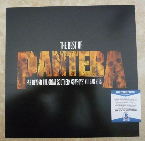 "Pantera Vinnie Paul Signed Autographed Beckett Certified 12"" LP Flat Poster #1"