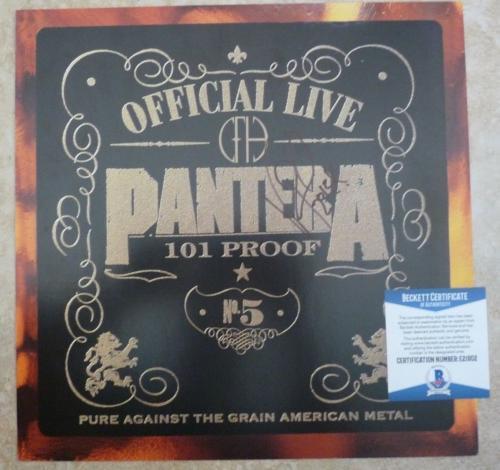 "Pantera Vinnie Paul Signed Autographed Beckett Certified 12"" LP Flat Poster #2"