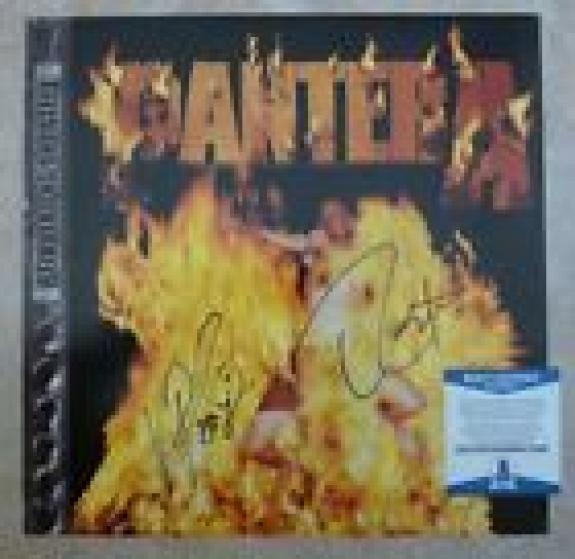 """Pantera Vinnie & Rex Signed Autographed Beckett Certified 12"""" LP Flat Poster #1"""