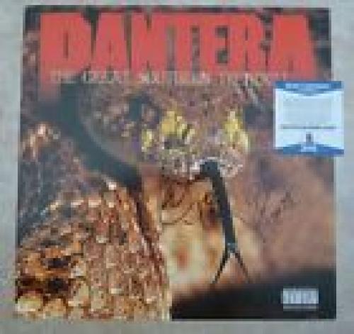 """Pantera Vinnie & Rex Signed Autographed Beckett Certified 12"""" LP Flat Poster #2"""