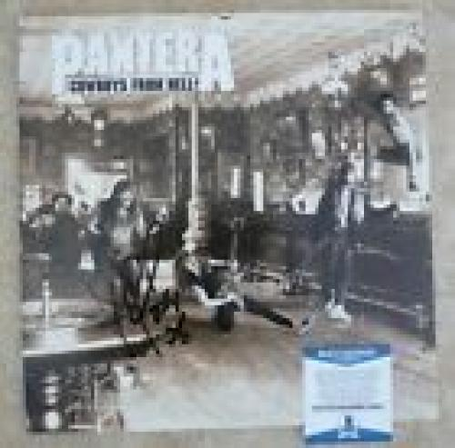 Pantera Vinnie & Rex Signed Autographed Beckett Certified Cowboys From Hell LP