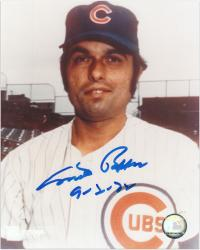 "Milt Pappas Chicago Cubs Autographed 8"" x 10"" Photograph with ""9-2-72"" Inscription - Mounted Memories"