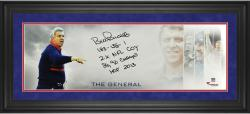 Bill Parcells New York Giants Framed Autographed 10'' x 30'' The General Photograph with Multiple Inscription - Mounted Memories