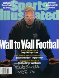Bill Parcells New York Jets Autographed Wall to Wall Sports Illustrated Magazine with HOF 13 Inscription
