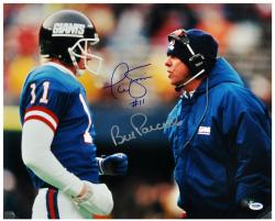Bill Parcells & Phil Simms New York Giants Autographed 16'' x 20'' Talking Photograph - Mounted Memories