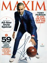 Tony Parker San Antonio Spurs Autographed 2013 Spring Maxim Magazine