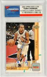 Tony Parker San Antonio Spurs Autographed 2002 Upper Deck #376 Card
