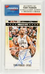 Tony Parker San Antonio Spurs Autographed 2012 Hoops #221 Card