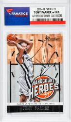 PARKER, TONY AUTO (2013-14 PANINI  # 13) CARD - Mounted Memories