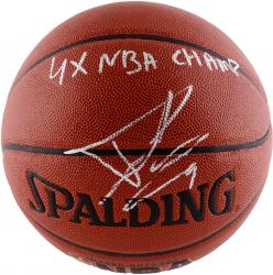 Tony Parker Autographed Basketball - 4X NBA Champ