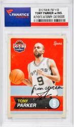 Tony Parker San Antonio Spurs Autographed 2012 Panini P&P #58 Card with Floor General Inscription
