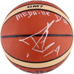 Tony Parker San Antonio Spurs Autographed FIBA Basketball with Medaille Dor Inscription