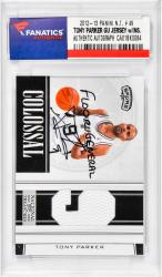 "PARKER, TONY AUTO W/ GU JRSY""FLOOR GENERAL""(12-13 PANINI#49) - Mounted Memories"