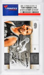 Tony Parker San Antonio Spurs Autographed 2009-10 Panini Studio #13 Card with Floor General Inscription