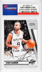 "PARKER, TONY AUTO""FLOOR GENERAL""(2011 PANINI # 127) CARD - Mounted Memories"
