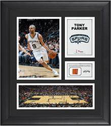 "Tony Parker San Antonio Spurs Framed 15"" x 17"" Collage with Team-Used Ball"