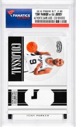 Tony Parker San Antonio Spurs 2010 Panini NT #49 Card with a Piece of Game-Used Jersey