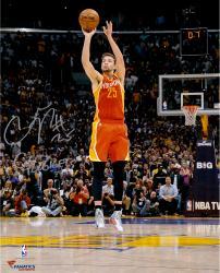 "Chandler Parsons Houston Rockets Autographed 16"" x 20"" Buzzer Photograph with Go Rockets Inscription"